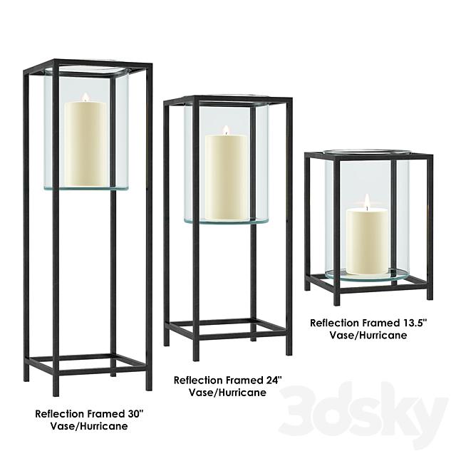 Reflection Framed Vase / Hurricane