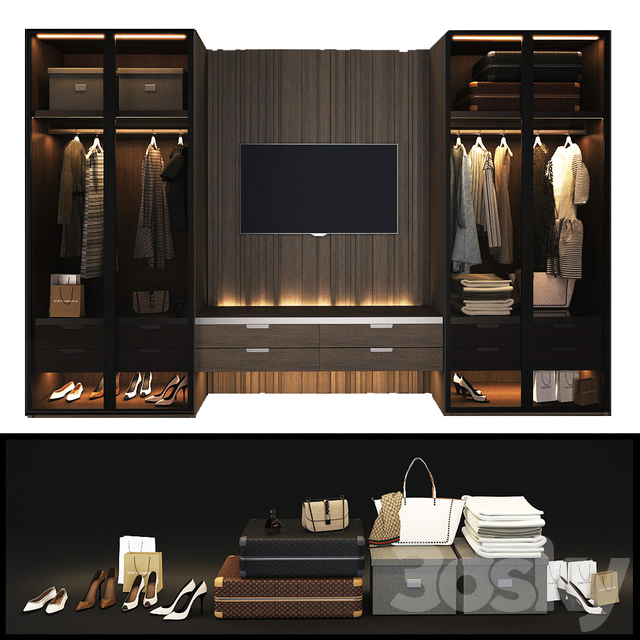 Cloakroom with Poliform TV zone fitted_1
