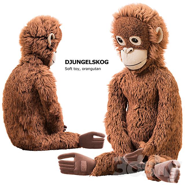 DJUNGELSKOG Soft toy, orangutan Ikea / soft toy DUNGELSKOGEN orangutan Ikea