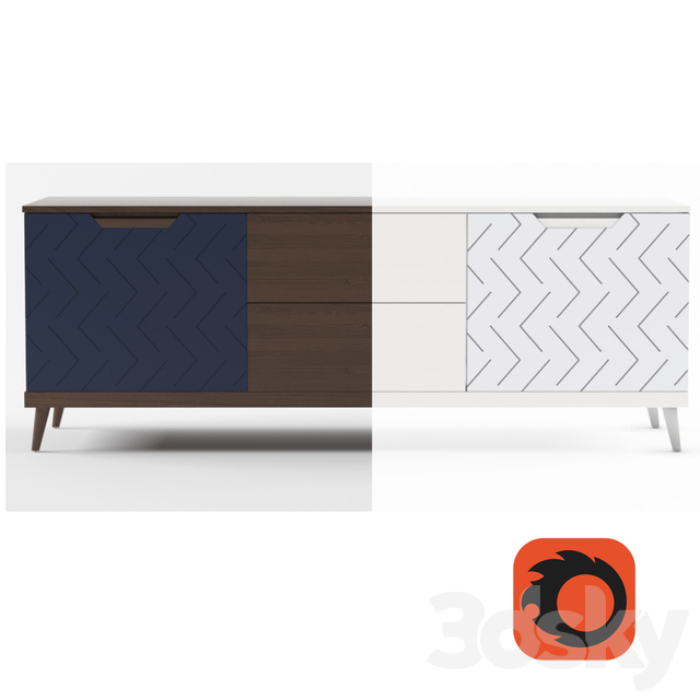 R-home TV stand Scandi collection