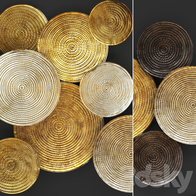3d Models Other Decorative Objects Art Circles Wall Decor