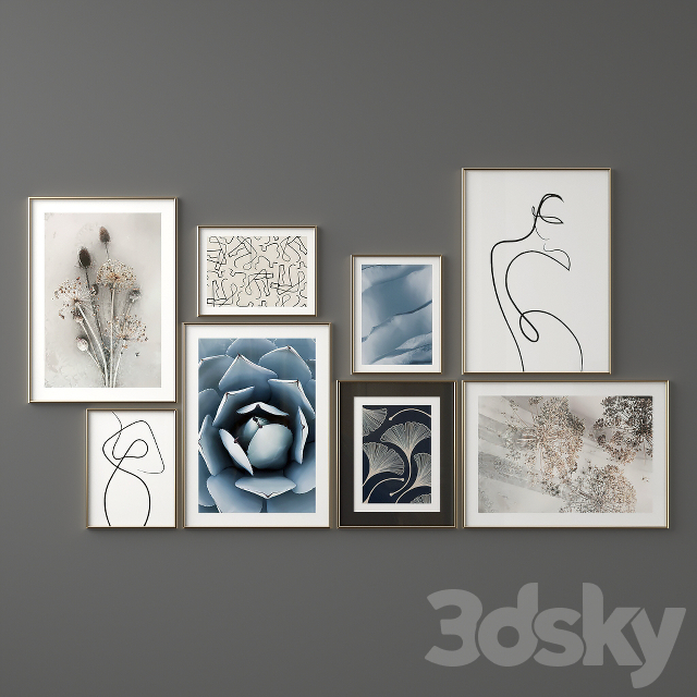 """Poster Set """"Dried Leaves"""""""