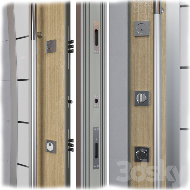 Entrance metal door Inox S-13 (Your Frame)