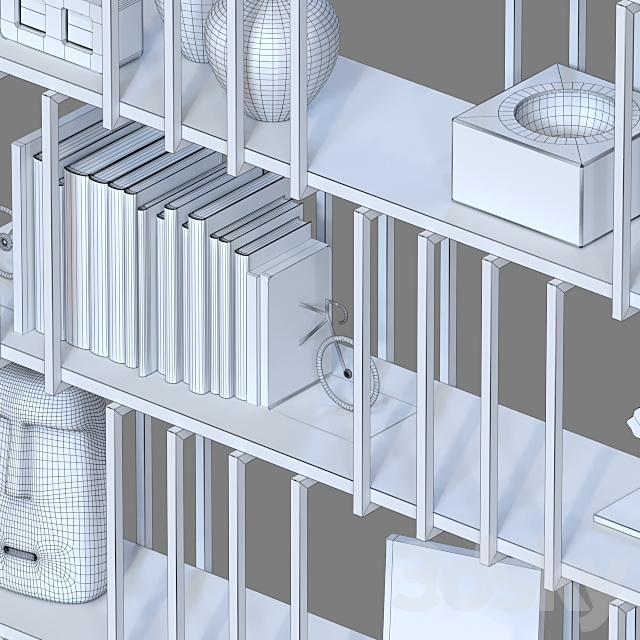 Double-sided shelving unit 031.