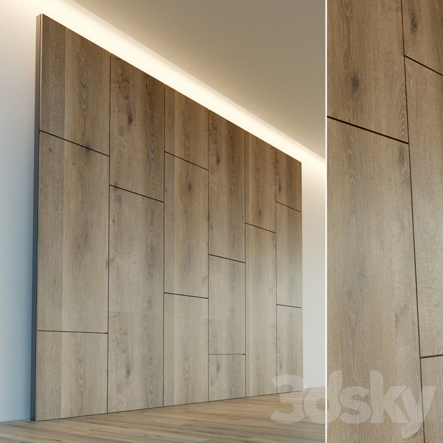 Decorative wall. Wall panel made of wood. 14