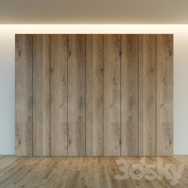 Decorative wall. Wall panel made of wood. nineteen