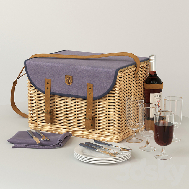 Picnic Basket for 4 Persons