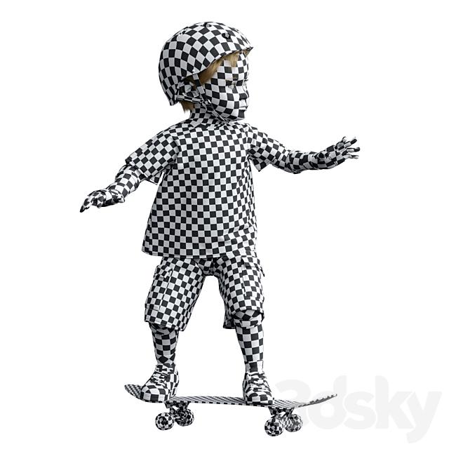 Child on a skateboard