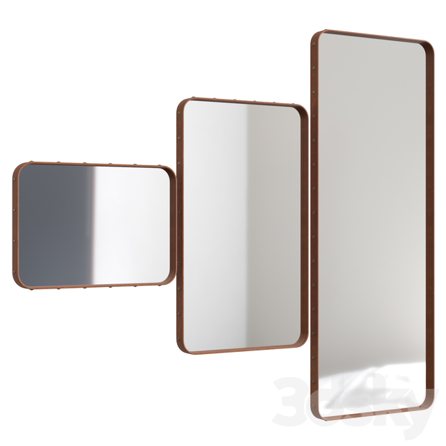Adnet rectangular mirror