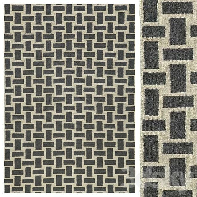 Pebble Gray / Cream Flat Weave Rug