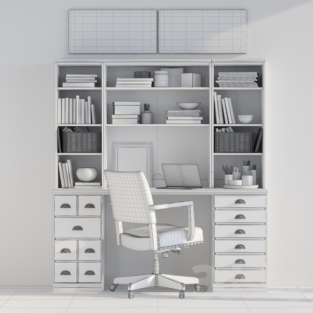 Pottery barn PRINTER'S 64 OFFICE SUITE