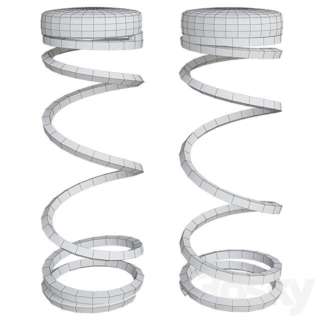 Coil spring bar stools