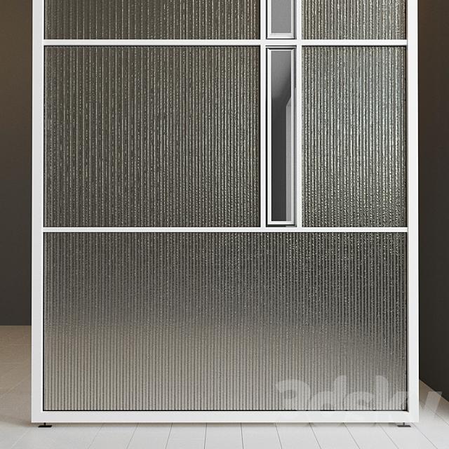 Glass partition door 37