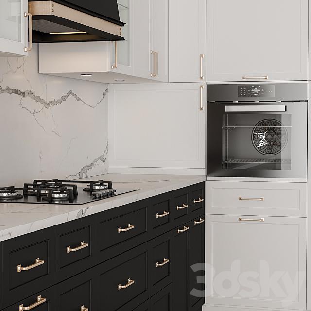 NeoClassic Kitchen Black And White