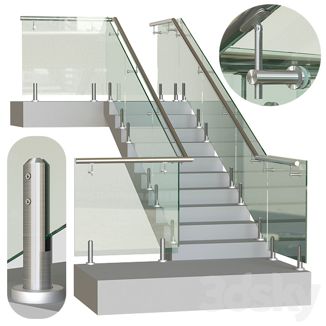 Glass railing on mini racks 4
