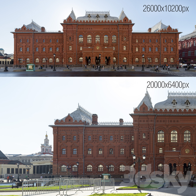 Facade panoramas at the Museum of the War of 1812