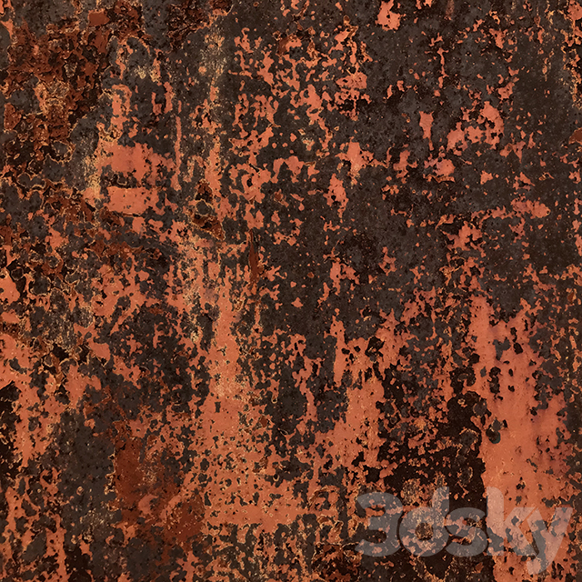 Corroded painted metal