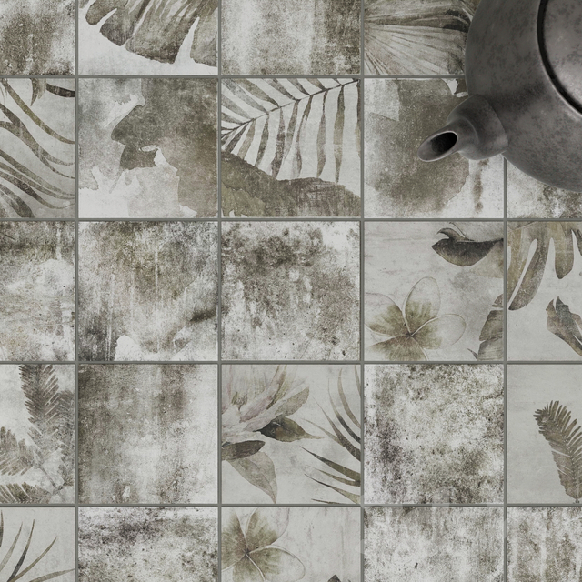 ZYX by Colorker AMAZONIA TROPIC GRAY tile set
