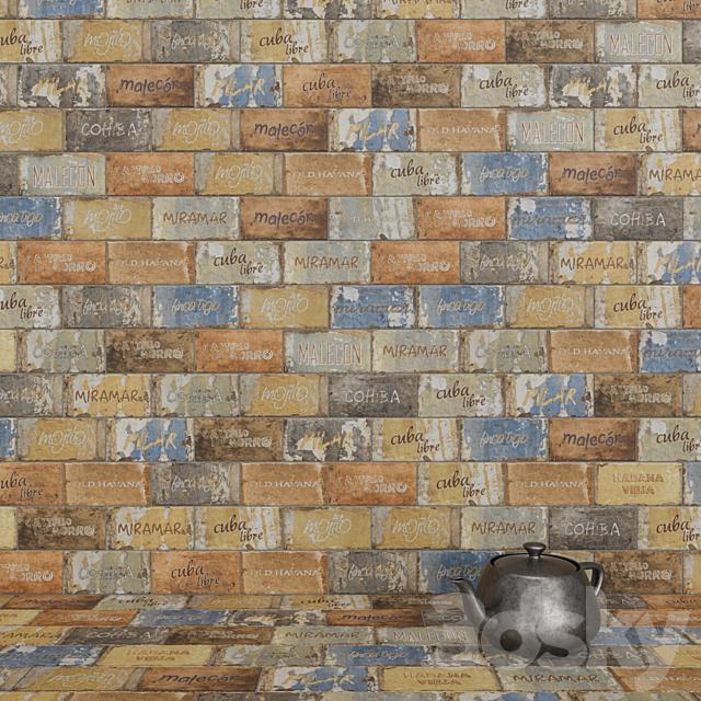 CIR Havana Cuba Libre Mix (Decoro) 20x10 Tile Set