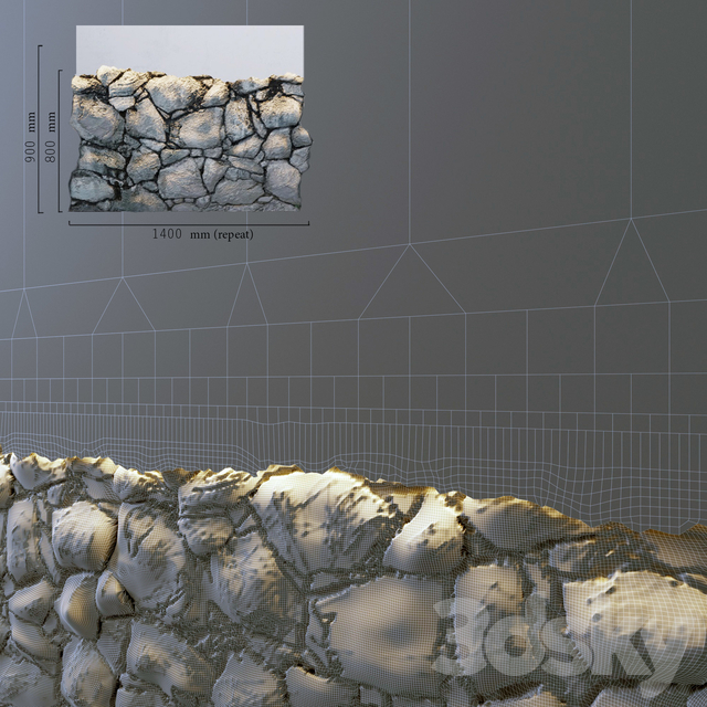 Decorative wall_four stone