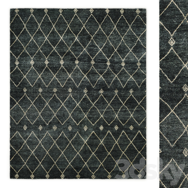 Salah Hand-Knotted Wool Rug RH