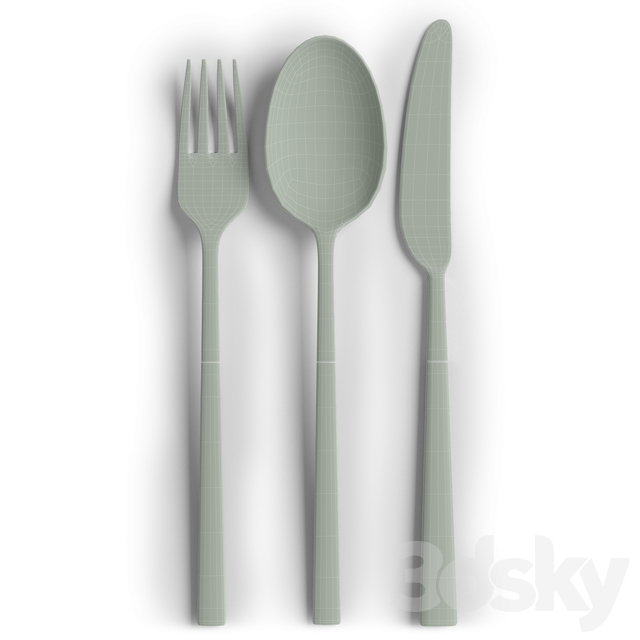 Gold Stainless Steel and Black Handle Cutlery Set