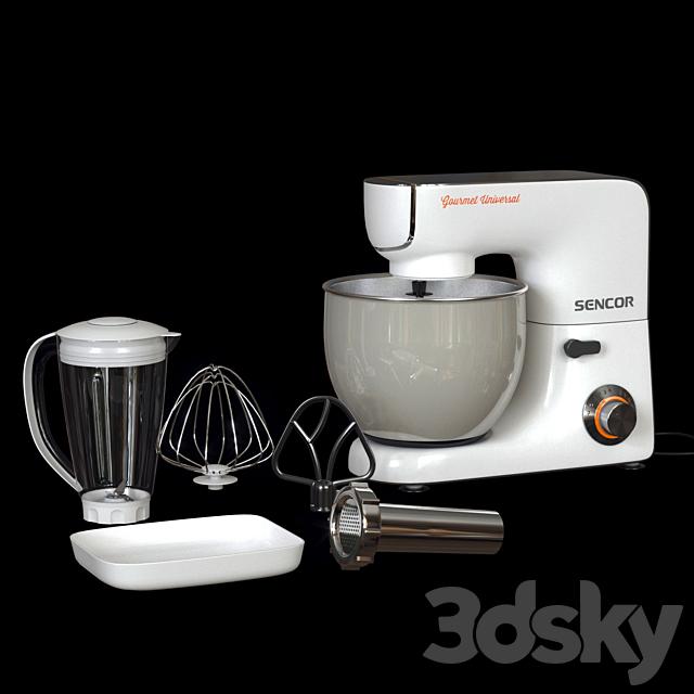 Sencor 5.8qt Stand Mixer with Accessories - White