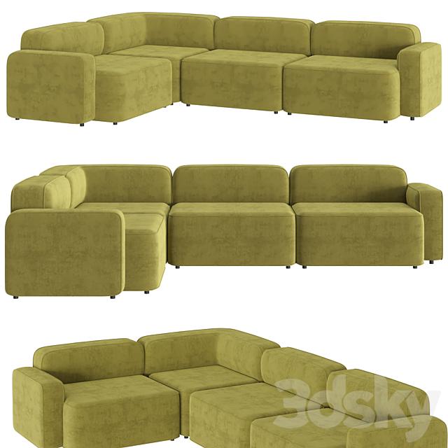 Rope Sofa 3 Seater Corner