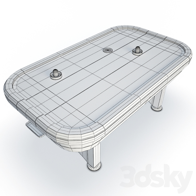 Electronic air hockey