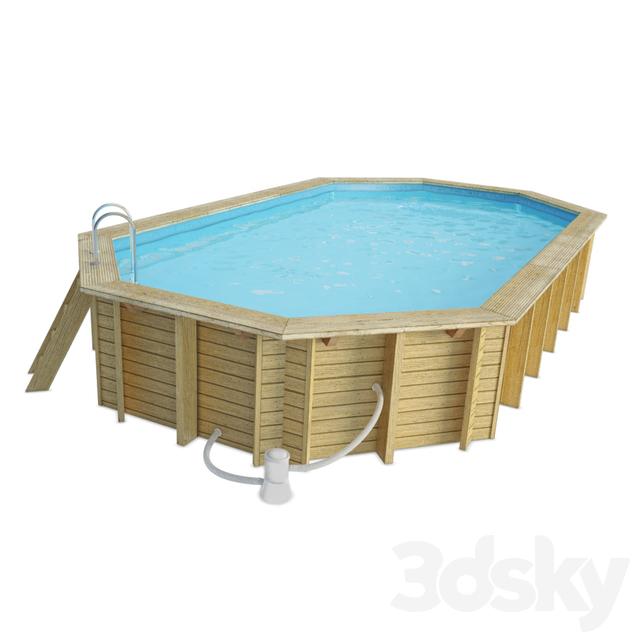 Long Wooden Swimming Pool