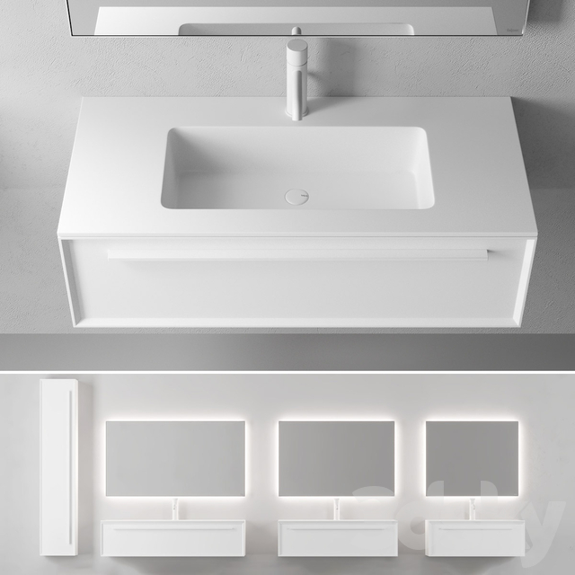 Falper 7.0 | Wall-mounted vanity unit with drawers