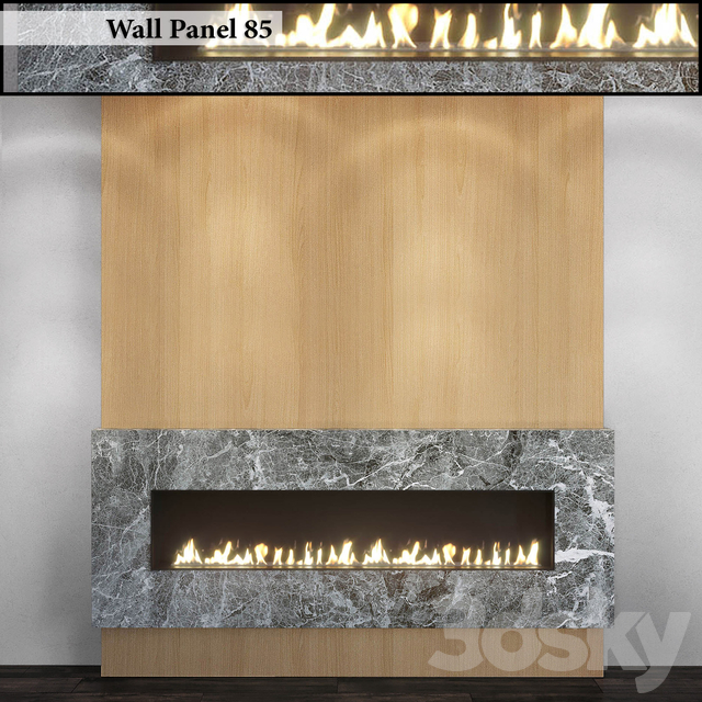 Wall Panel 85. Fireplace