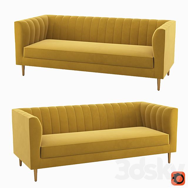Amicie 2 Seater Sofa, Vintage Gold Velvet