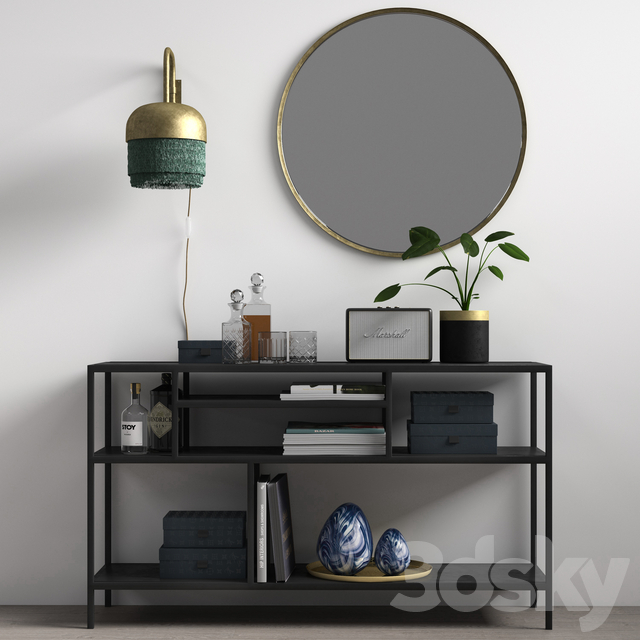 Decorative set NORDAL SHELF