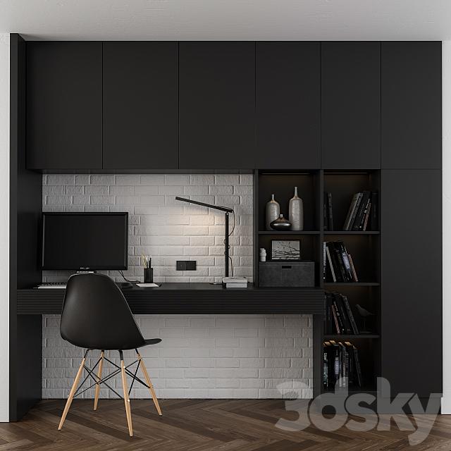 Black home office set