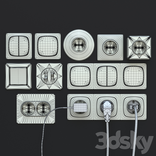 Sockets, switches, plugs