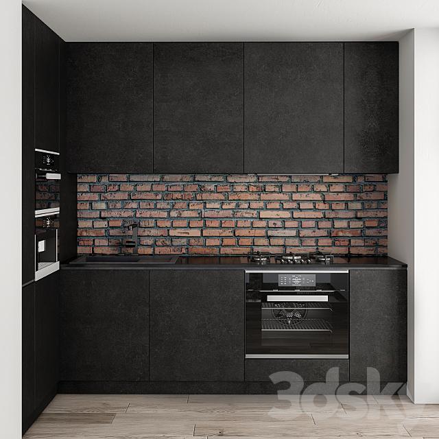 Kitchen Modern Brick Wall