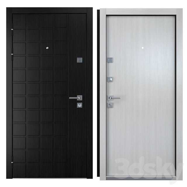 Entrance metal door Grid (Zimen)