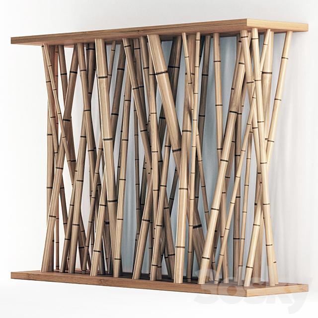Bamboo wall decor / Bamboo partition