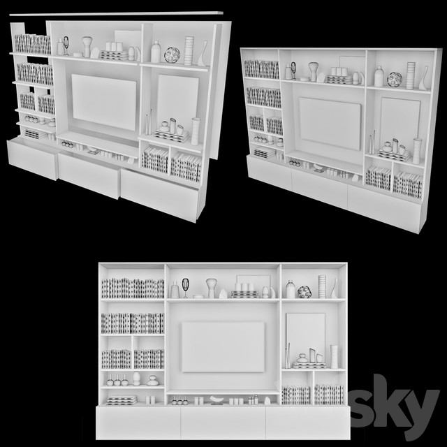 TV Wall   set 32