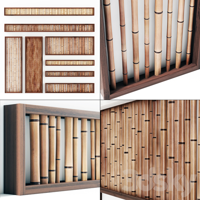 Partitions from bamboo branches / Wall branch bamboo