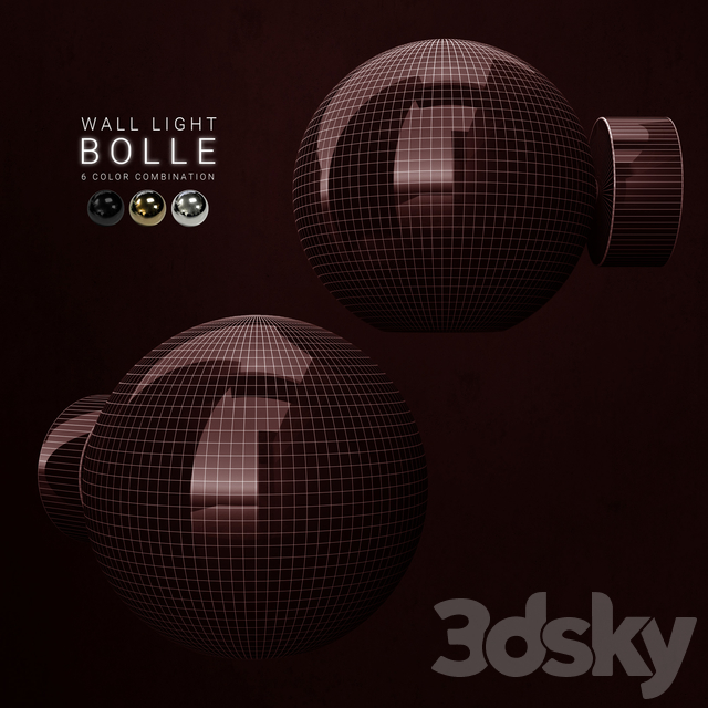 Giopato and Coombes Bolle wall light 1 lamp