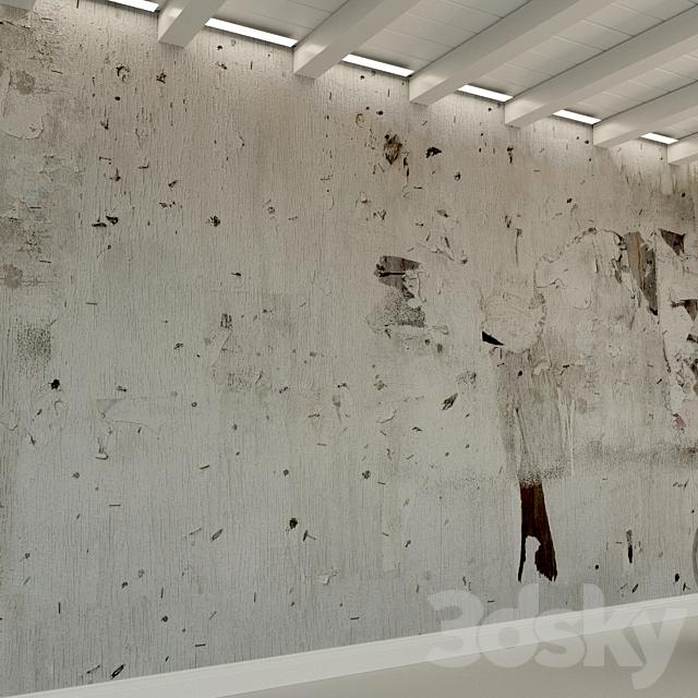 Concrete wall. Old concrete. 134