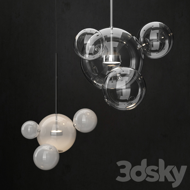 Chandelier Giopato & Coombes Bolle 4 lights