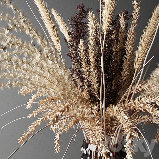 Dry bouquet in the decorative vase | Bouquet of dried flowers in a decorative vase