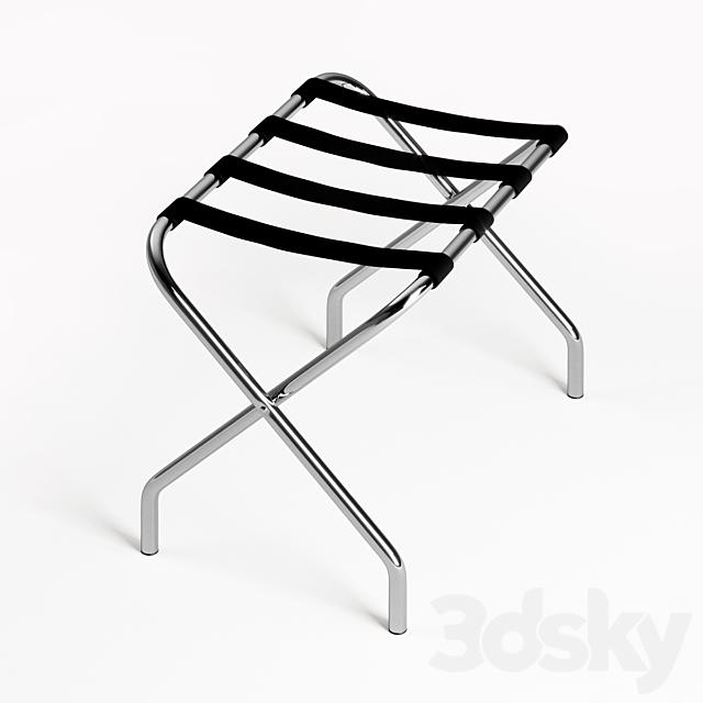 Lancaster Table & Seating Chrome Folding Luggage Rack