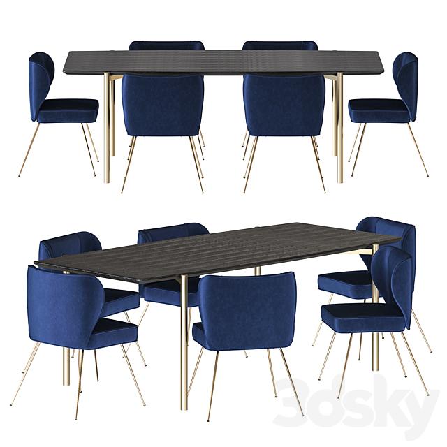NV Gallery Set Wayne Chair And Milano Table