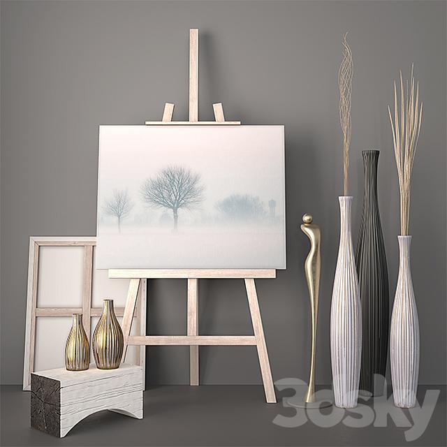Decor - Vases, Dry grass, Statuette
