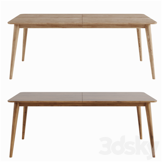 Dining table Tate Walnut Extendable Midcentury Crate and Barrel