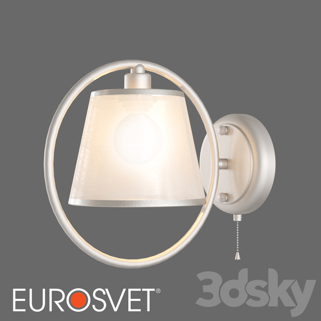 OM Wall lamp with lampshade Eurosvet 60093/1 Volante